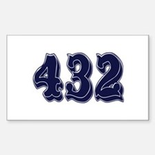 432 Rectangle Decal
