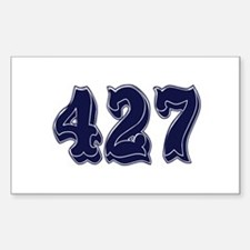 427 Rectangle Decal