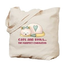 Cute Cats And Books Tote Bag