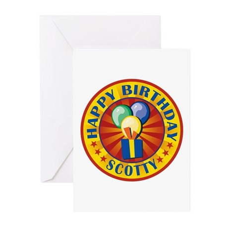 Happy Birthday Scotty Personalized Greeting Cards