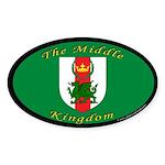 Middle Kingdom Oval Sticker (10 pk)