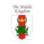 Middle Kingdom Rectangle Sticker 10 pk)