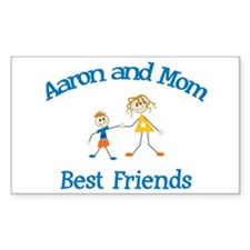Aaron and Mom - Best Friends Rectangle Stickers