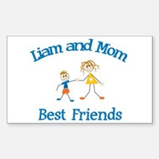 Liam and Mom - Best Friends Rectangle Decal