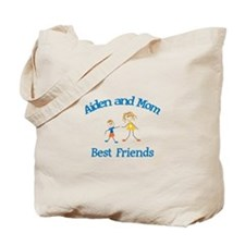 Aiden and Mom - Best Friends Tote Bag