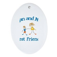 Logan and Mom - Best Friends Oval Ornament