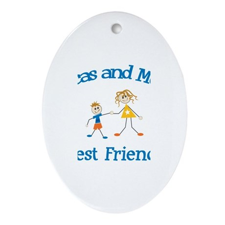 Lucas and Mom - Best Friends Oval Ornament