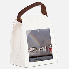 Unique Norwegian fjord Canvas Lunch Bag
