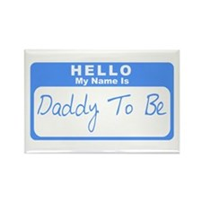 My Name Is Daddy To Be (Blue) Rectangle Magnet