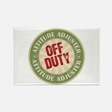 Off Duty Attitude Adjuster Rectangle Magnet