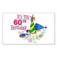 It's My 60th Birthday (Party Hats) Decal