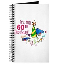 It's My 60th Birthday (Party Hats) Journal