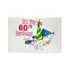 It's My 60th Birthday (Party Hats) Rectangle Magne
