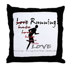 love/hate relationship Throw Pillow