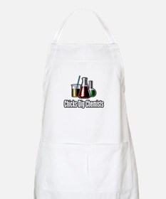 """Chicks Dig Chemists"" BBQ Apron"