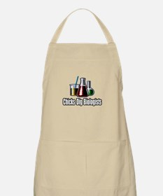 """Chicks Dig Biologists"" BBQ Apron"