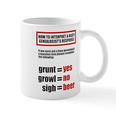 Genealogists Response Mug