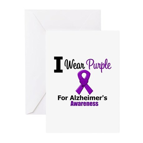 I Wear Purple Alzheimers Greeting Cards (Pk of 10)