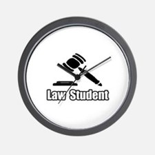 """Law Student"" Wall Clock"