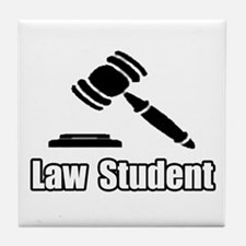 """Law Student"" Tile Coaster"