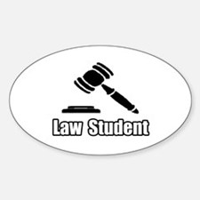 """Law Student"" Oval Decal"