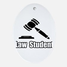 """Law Student"" Oval Ornament"