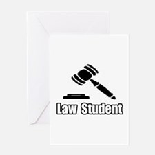 """Law Student"" Greeting Card"