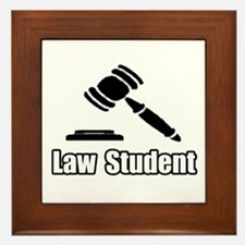 """""""Law Student"""" Framed Tile"""