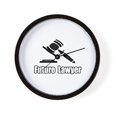 """Future Lawyer"" Wall Clock"