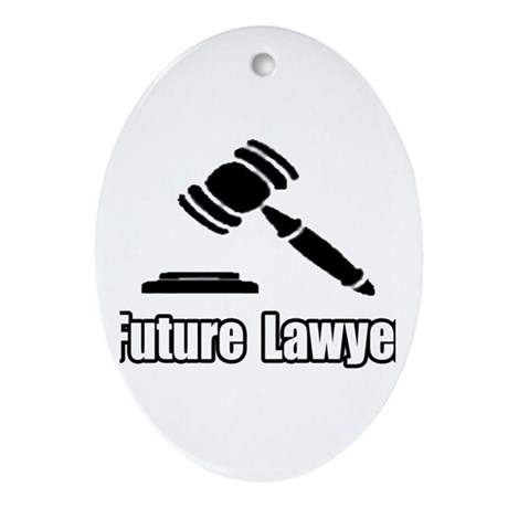 """""""Future Lawyer"""" Oval Ornament"""