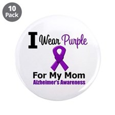 "Alzheimer's (Mom) 3.5"" Button (10 pack)"