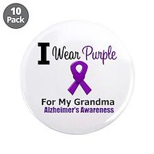 """Alzheimer's (Grandma) 3.5"""" Button (10 pack)"""
