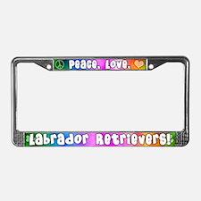 Hippie Labrador Retriever License Plate Frame