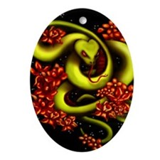 Cute Snakes Oval Ornament