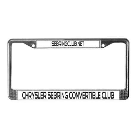 Sebring Convertible License Plate Frame