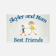 Skyler and Mom - Best Friends Rectangle Magnet