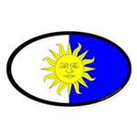 Atenvelt Populace Oval Sticker (50 pk)