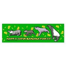 Happy Tapir Banana Party Bumper Bumper Sticker