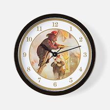 ROOSEVELT BEARS - FIREFIGHTER HEROS Wall Clock