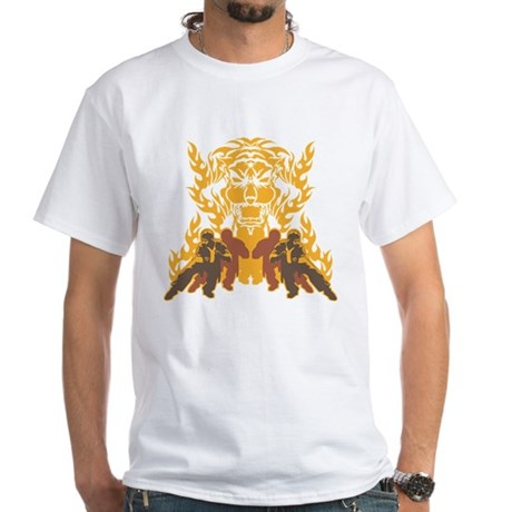 """Tiger Kung Fu"" White T-Shirt"