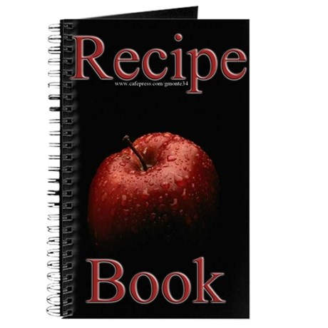 Red apple blank recipe book 1 by gmonte34 for Apple product book