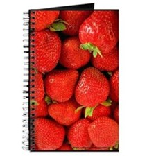 Red Strawberry Blank Recipe Book