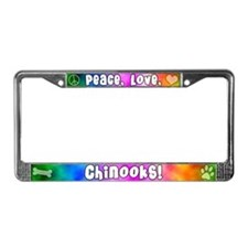 Hippie Chinook License Plate Frame