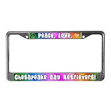 Hip Chesapeake Bay Retriever License Plate Frame