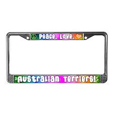 Hippie Australian Terrier License Plate Frame