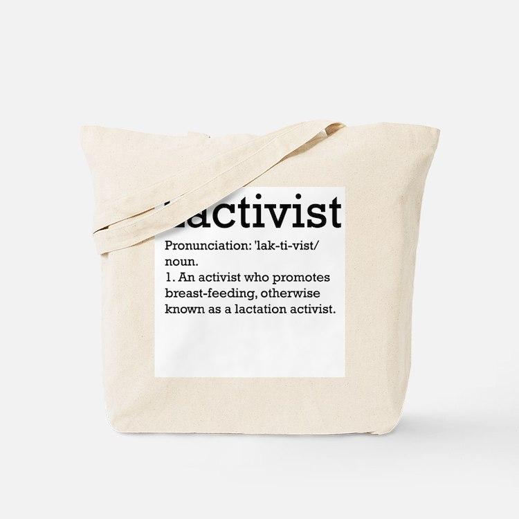 Lactivist - definition Tote Bag
