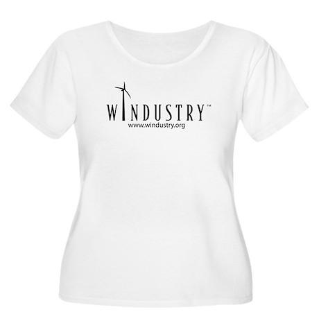 Windustry Women's Plus Size Scoop Neck T-Shirt