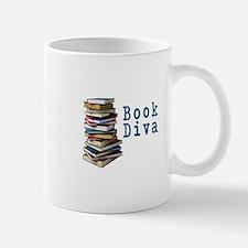 Book Diva (w/books) Mug