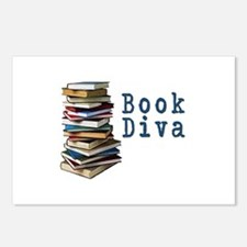Book Diva (w/books) Postcards (Package of 8)