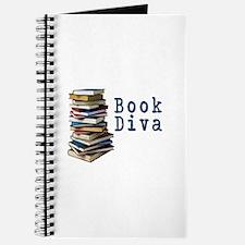 Book Diva (w/books) Journal